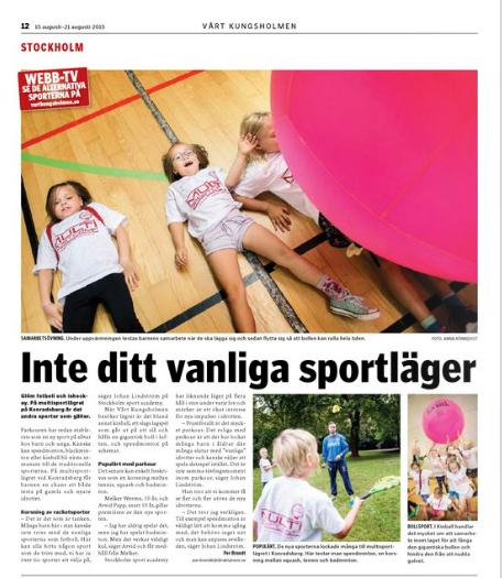 Kungsholmens tidning Multi Sport Camp